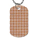 WOVEN1 WHITE MARBLE & RUSTED METAL Dog Tag (Two Sides) Back