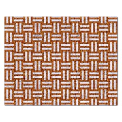 WOVEN1 WHITE MARBLE & RUSTED METAL Rectangular Jigsaw Puzzl
