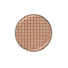WOVEN1 WHITE MARBLE & RUSTED METAL Hat Clip Ball Marker (10 pack)