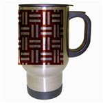 WOVEN1 WHITE MARBLE & RUSTED METAL Travel Mug (Silver Gray) Right