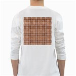 WOVEN1 WHITE MARBLE & RUSTED METAL White Long Sleeve T-Shirts Back