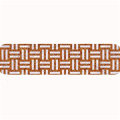 WOVEN1 WHITE MARBLE & RUSTED METAL Large Bar Mats