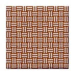 WOVEN1 WHITE MARBLE & RUSTED METAL Face Towel Front