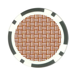 Woven1 White Marble & Rusted Metal Poker Chip Card Guard (10 Pack)