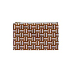 WOVEN1 WHITE MARBLE & RUSTED METAL Cosmetic Bag (Small)