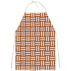 Woven1 White Marble & Rusted Metal Full Print Aprons