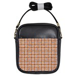 WOVEN1 WHITE MARBLE & RUSTED METAL Girls Sling Bags Front