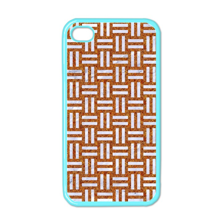 WOVEN1 WHITE MARBLE & RUSTED METAL Apple iPhone 4 Case (Color)