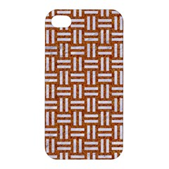WOVEN1 WHITE MARBLE & RUSTED METAL Apple iPhone 4/4S Hardshell Case