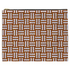 WOVEN1 WHITE MARBLE & RUSTED METAL Cosmetic Bag (XXXL)