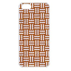Woven1 White Marble & Rusted Metal Apple Iphone 5 Seamless Case (white)