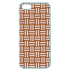 Woven1 White Marble & Rusted Metal Apple Seamless Iphone 5 Case (color) by trendistuff