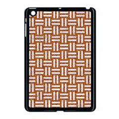 Woven1 White Marble & Rusted Metal Apple Ipad Mini Case (black) by trendistuff