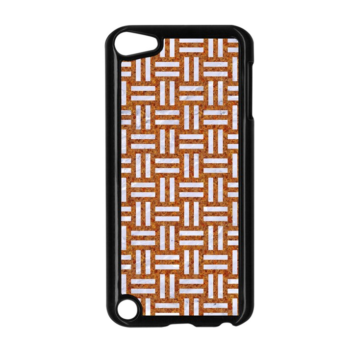 WOVEN1 WHITE MARBLE & RUSTED METAL Apple iPod Touch 5 Case (Black)