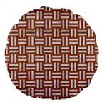 WOVEN1 WHITE MARBLE & RUSTED METAL Large 18  Premium Round Cushions Back