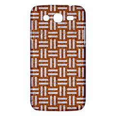 Woven1 White Marble & Rusted Metal Samsung Galaxy Mega 5 8 I9152 Hardshell Case  by trendistuff