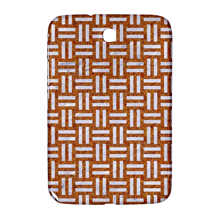WOVEN1 WHITE MARBLE & RUSTED METAL Samsung Galaxy Note 8.0 N5100 Hardshell Case