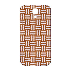 Woven1 White Marble & Rusted Metal Samsung Galaxy S4 I9500/i9505  Hardshell Back Case by trendistuff