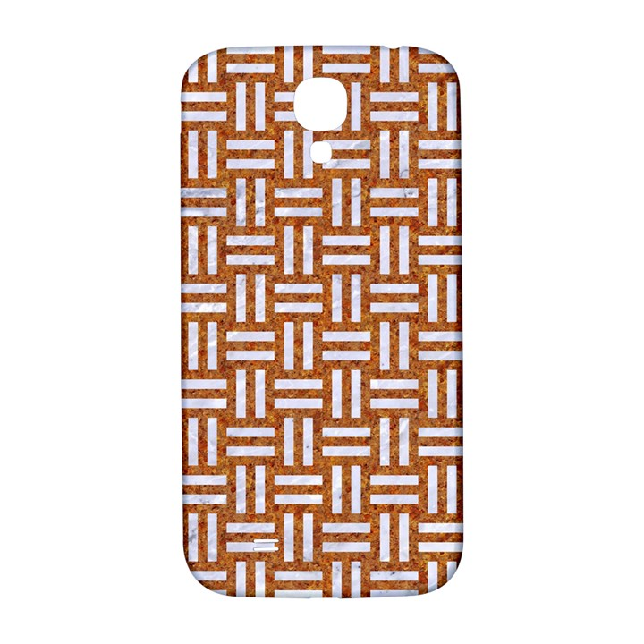 WOVEN1 WHITE MARBLE & RUSTED METAL Samsung Galaxy S4 I9500/I9505  Hardshell Back Case