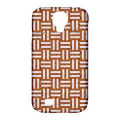 Woven1 White Marble & Rusted Metal Samsung Galaxy S4 Classic Hardshell Case (pc+silicone) by trendistuff