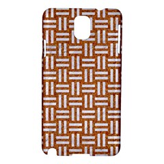 Woven1 White Marble & Rusted Metal Samsung Galaxy Note 3 N9005 Hardshell Case by trendistuff