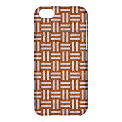Woven1 White Marble & Rusted Metal Apple Iphone 5c Hardshell Case by trendistuff