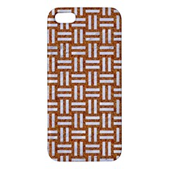 Woven1 White Marble & Rusted Metal Iphone 5s/ Se Premium Hardshell Case by trendistuff