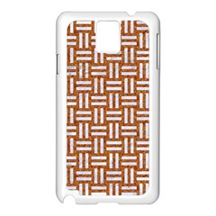 Woven1 White Marble & Rusted Metal Samsung Galaxy Note 3 N9005 Case (white) by trendistuff