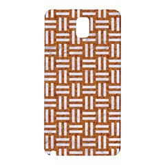 Woven1 White Marble & Rusted Metal Samsung Galaxy Note 3 N9005 Hardshell Back Case by trendistuff