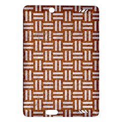 WOVEN1 WHITE MARBLE & RUSTED METAL Amazon Kindle Fire HD (2013) Hardshell Case