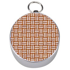 WOVEN1 WHITE MARBLE & RUSTED METAL Silver Compasses