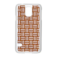 Woven1 White Marble & Rusted Metal Samsung Galaxy S5 Case (white) by trendistuff