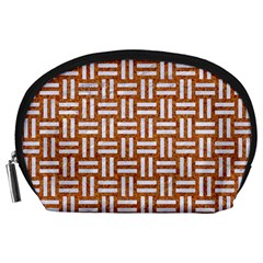 WOVEN1 WHITE MARBLE & RUSTED METAL Accessory Pouches (Large)