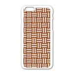 WOVEN1 WHITE MARBLE & RUSTED METAL Apple iPhone 6/6S White Enamel Case Front