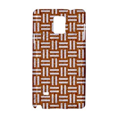 Woven1 White Marble & Rusted Metal Samsung Galaxy Note 4 Hardshell Case by trendistuff