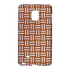 Woven1 White Marble & Rusted Metal Galaxy Note Edge by trendistuff