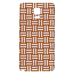 Woven1 White Marble & Rusted Metal Galaxy Note 4 Back Case