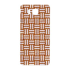 Woven1 White Marble & Rusted Metal Samsung Galaxy Alpha Hardshell Back Case by trendistuff