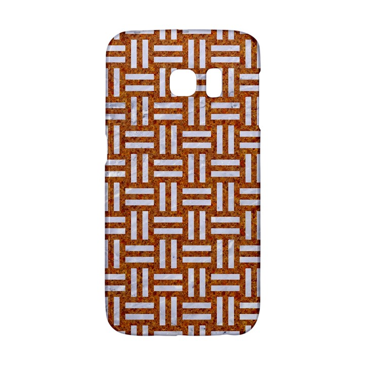 WOVEN1 WHITE MARBLE & RUSTED METAL Galaxy S6 Edge
