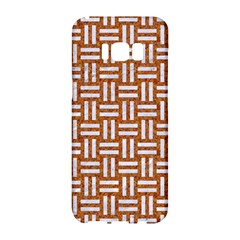 Woven1 White Marble & Rusted Metal Samsung Galaxy S8 Hardshell Case  by trendistuff