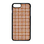 WOVEN1 WHITE MARBLE & RUSTED METAL Apple iPhone 8 Plus Seamless Case (Black) Front