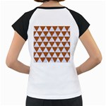 TRIANGLE3 WHITE MARBLE & RUSTED METAL Women s Cap Sleeve T Back