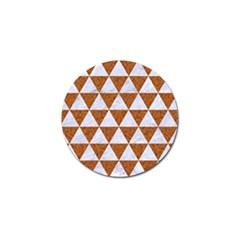 Triangle3 White Marble & Rusted Metal Golf Ball Marker (10 Pack)