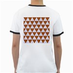 TRIANGLE3 WHITE MARBLE & RUSTED METAL Ringer T-Shirts Back