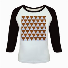 Triangle3 White Marble & Rusted Metal Kids Baseball Jerseys