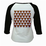 TRIANGLE3 WHITE MARBLE & RUSTED METAL Kids Baseball Jerseys Back