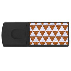 Triangle3 White Marble & Rusted Metal Rectangular Usb Flash Drive by trendistuff