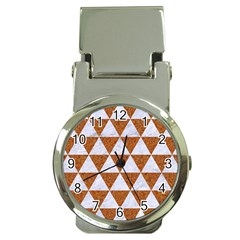 Triangle3 White Marble & Rusted Metal Money Clip Watches
