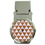 TRIANGLE3 WHITE MARBLE & RUSTED METAL Money Clip Watches Front