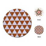 TRIANGLE3 WHITE MARBLE & RUSTED METAL Playing Cards (Round)  Front